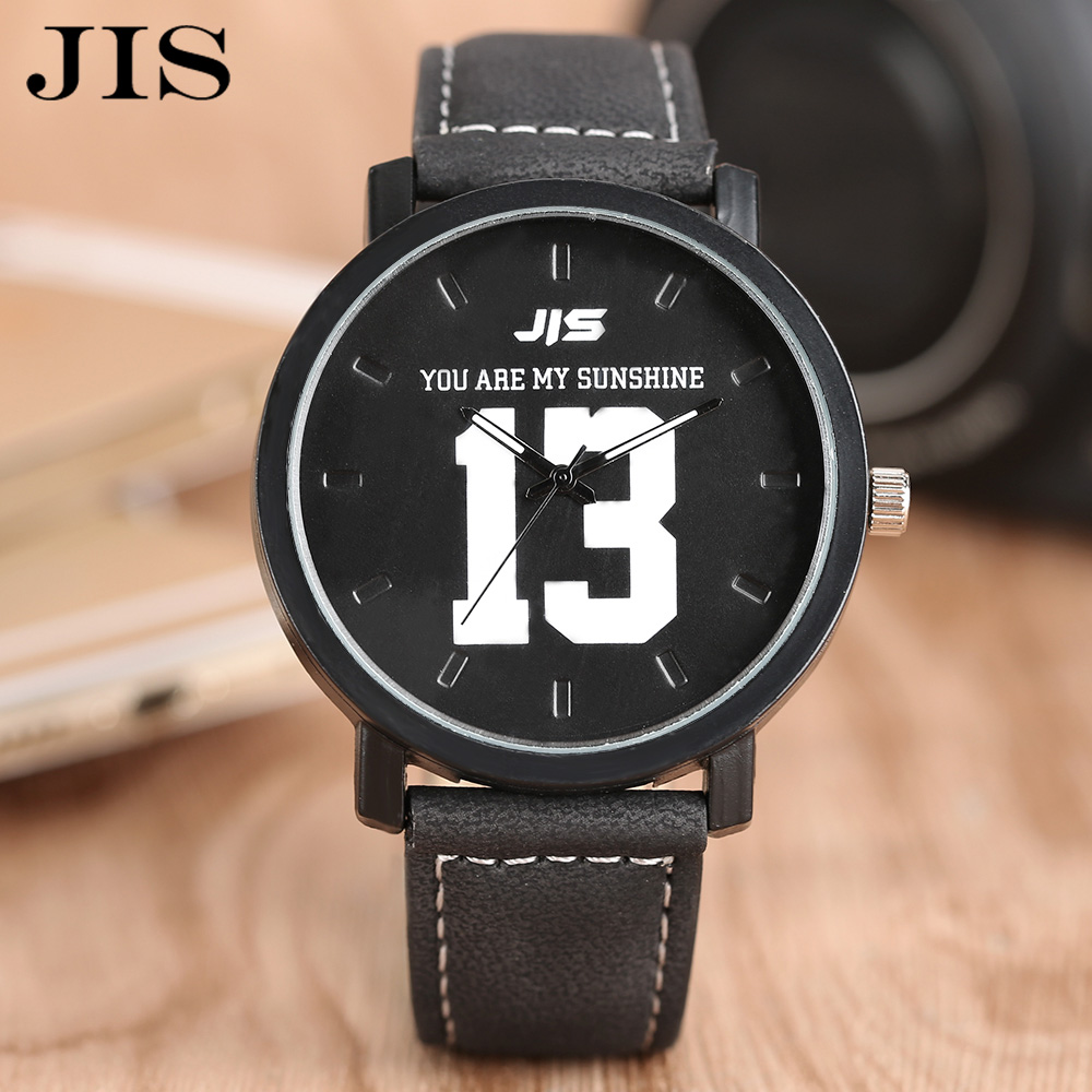 2017 JIS Fashion Casual Watch Men Leather Quartz Clock 13/14 Dial Outdoor Army Wristwatches Male Birthday Gifts Montre Homme agelocer designer watch male real leather watch strap black dial quartz movement wristwatches analog clock auto datemontre homme