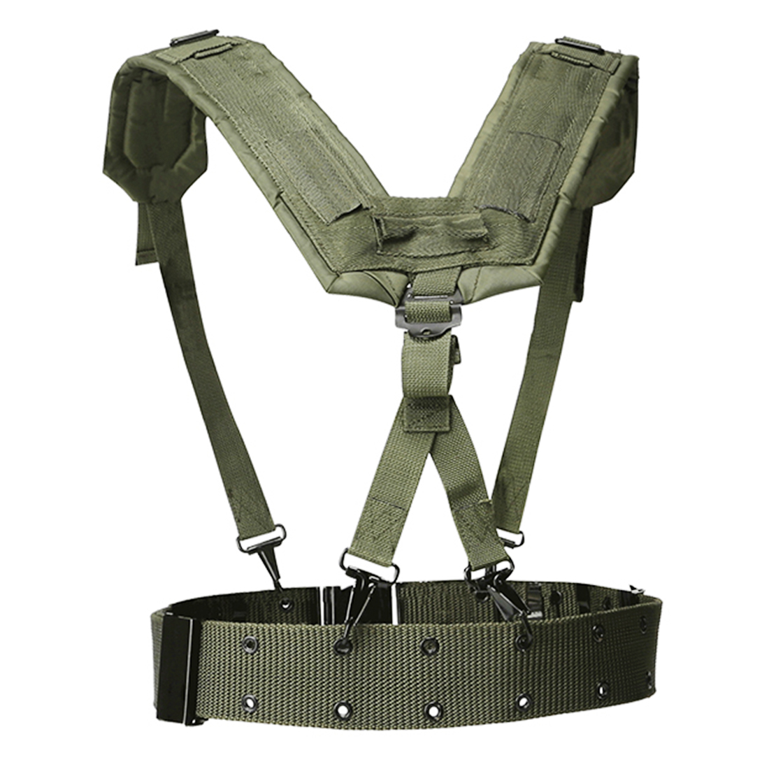 HTB12DxbaZfrK1Rjy0Fmq6xhEXXar - HS Adjustable Tactical Lightweight Waist Belt Harness Set for Outdoor Military Shoulder Waist Protective Band for Adult