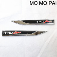 TRD Sports Emblem Badge Decal Metal Racing Car Knife Sticker Fit For Camry Corolla Yaris 2016