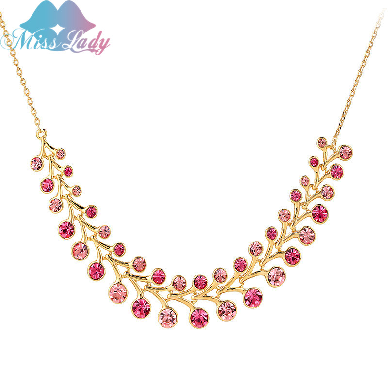Ladies Christmas Presents Part - 44: Miss Lady Fashion Christmas Present Superior Quality Crystal Necklace  Popular Alloy Clavicle Chain Necklaces For Women