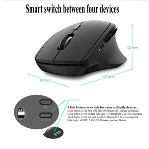 Image 2 - New Rapoo MT550G Multi mode Wireless Mouse Switch between Bluetooth 3.0/4.0 and 2.4G for Four Devices Connection Computer Mouse