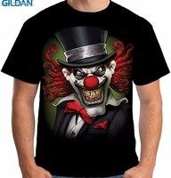 GILDAN T-shirt Design Store Gildan Kurze Zomer Oansatz Herren Crazy Clown Scary Horror Joker Narr Böse Biker T Shirts
