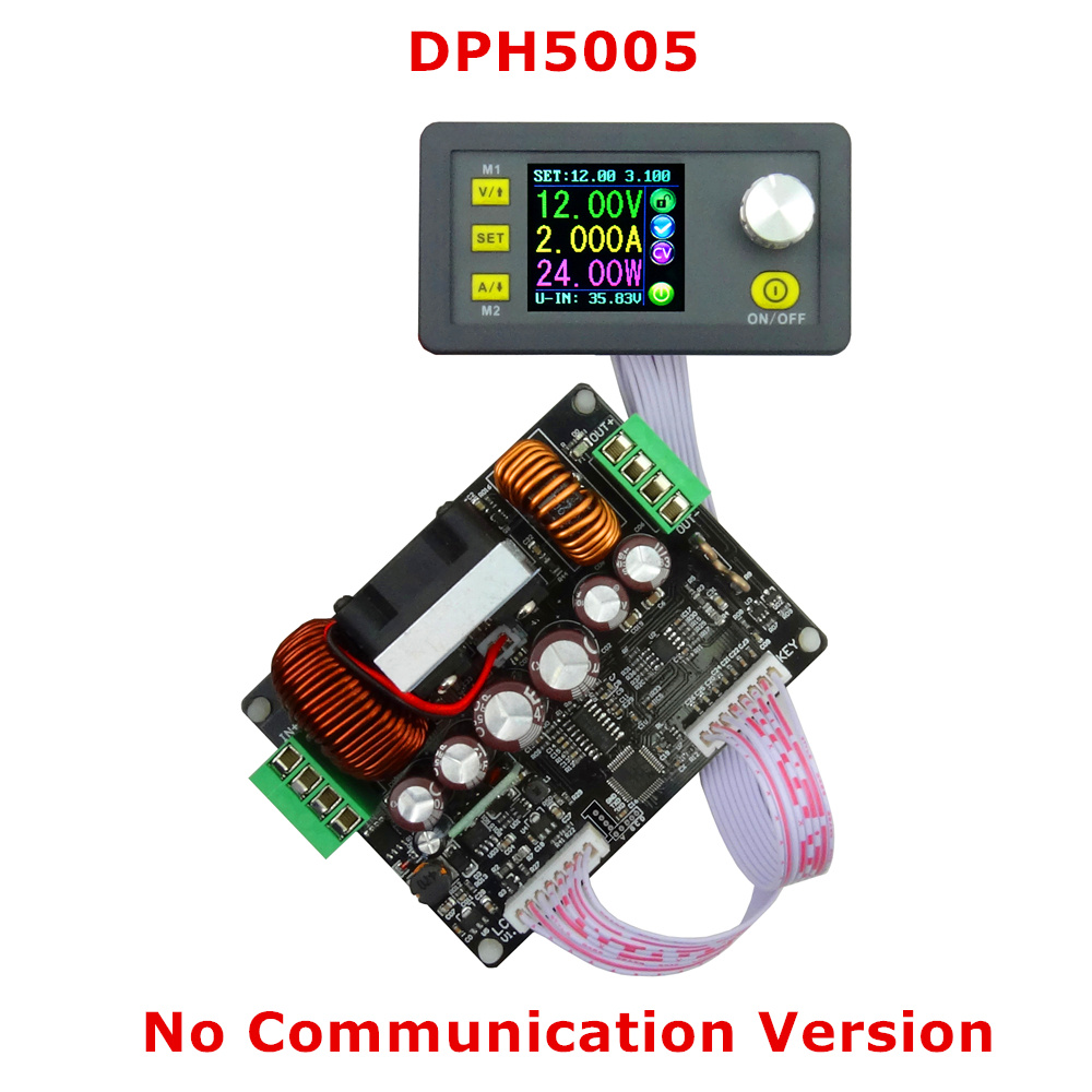 DPH5005 Constant Voltage current Step-down Programmable Power Supply module Buck-boost Voltage converter LCD voltmeter 50V 5A constant digital voltage current meter step down dp50v2a voltage regulator supply module buck color lcd display converter