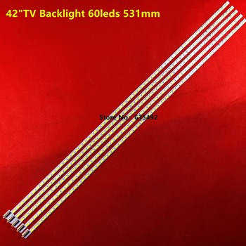 Original and new 5pieces 531mm LED Backlight Lamp strip 60leds For LG 42 inch TV  LE42A70W 6922L-0016A 6916L-0912A 6920L-0001C