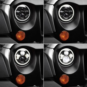 Image 5 - 2pcs 7 אינץ עגול LED פנס עבור ג יפ רנגלר JK TJ עבור האמר H1 H2 12V 24V לסוזוקי סמוראי לאדה 4x4 עירוני ניבה