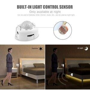 Image 3 - Eua ue pir sensor de movimento fita luz da cozinha 12 v led night light ir corpo movimento detecção fita tira lâmpada corredor cama guarda roupa