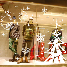 Snowflake Christmas Tree Wall Sticker Window Decor Decals Removable Living Waterproof Fashion Vinyl