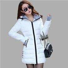 Ватные куртки женщины Хороший новый женские зимние куртки вниз хлопка куртка тонкий ветровки женские пальто плюс размер XS-XXL