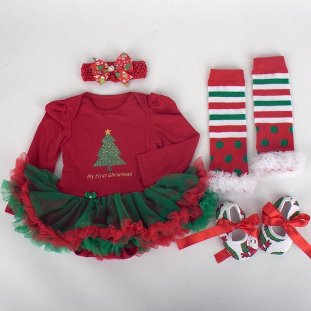 77920f0a3 1 st Girls Bodysuit Baby Christmas Dresses Birthday Girl Dress Cute ...