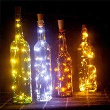 2PCS Lot 2M 20 LEDs Bottle Cork Stopper Shaped LED String Lights for bottle craft LED