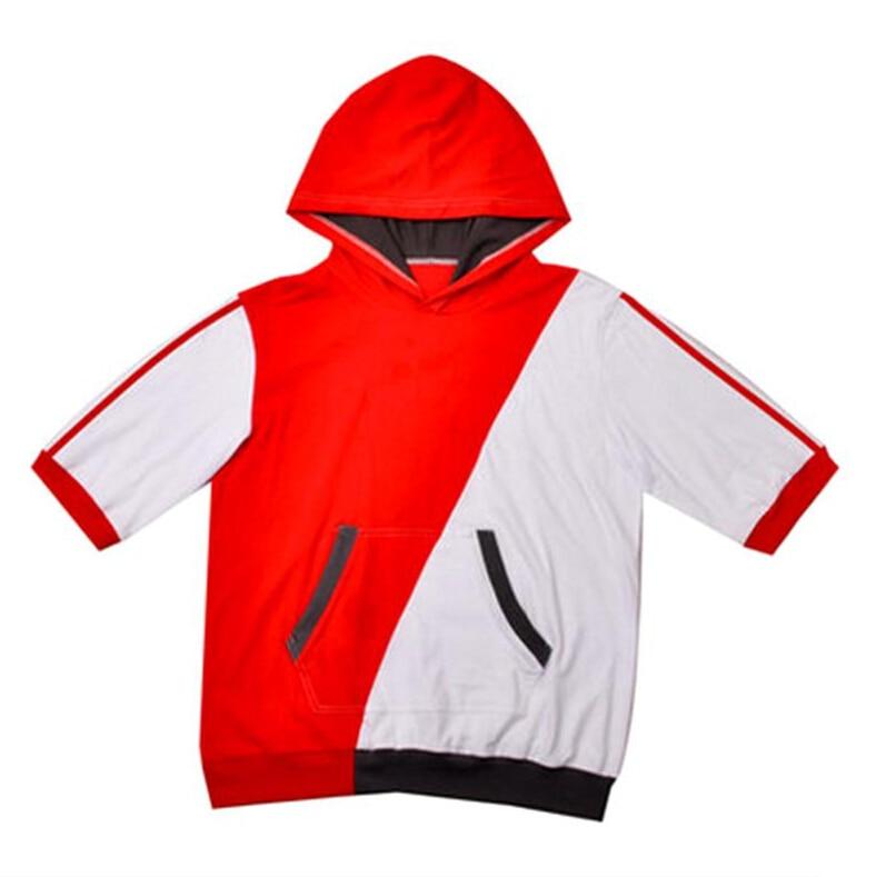 Game Fans Pokemon Go Hooded Team Valor Trainer Mystic Instinct Figure Cosplay Costume Red Coat 2 colors