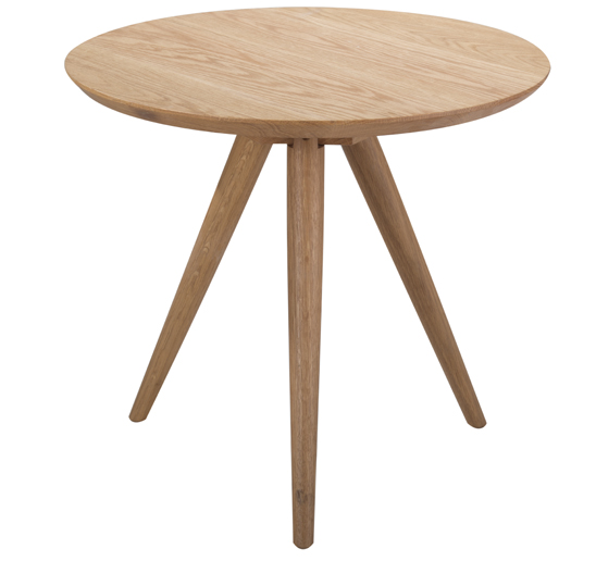 Minimalist modern living room furniture coffee table ash wood round side table small tea table wooden sofa craft table end table