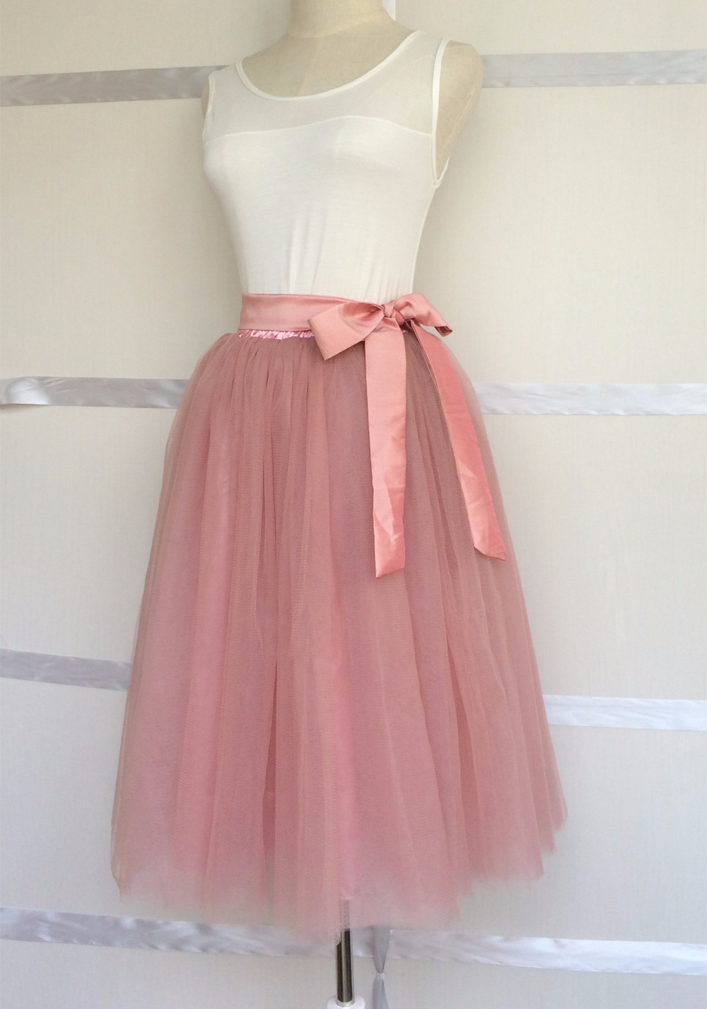 e573391a4 2015 nuevas mujeres del verano 6 capas adultos falda de tul todo ...