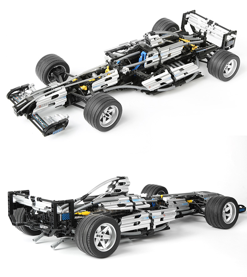 2017 1486Pcs Technic Series The Ultimate Sliver Champion F1 Racing Car Set Educational Building Blocks Bricks Boy Toys 8458 1set water cooled spindle motor 1 5kw with a vfd as a set for cnc
