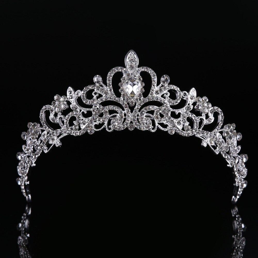Trendy bridal headpiece - High Quality Snow Queen Crown Sweet Wedding Headpiece Trendy Hairwear Zinc Alloy Wedding Hair Accessories Cy161117 143