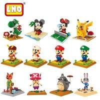 Magic Blocks Super Mario Mini Blocks Stitch Micro Blocks DIY Building Bricks Toys Cartoon Minifigures Juguetes