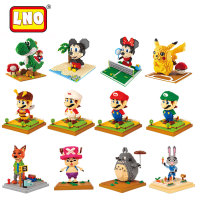 Magic nanoblocks super mario bros diamond blocks yoshi micro block DIY building bricks toys cartoon action figures gift for kid.