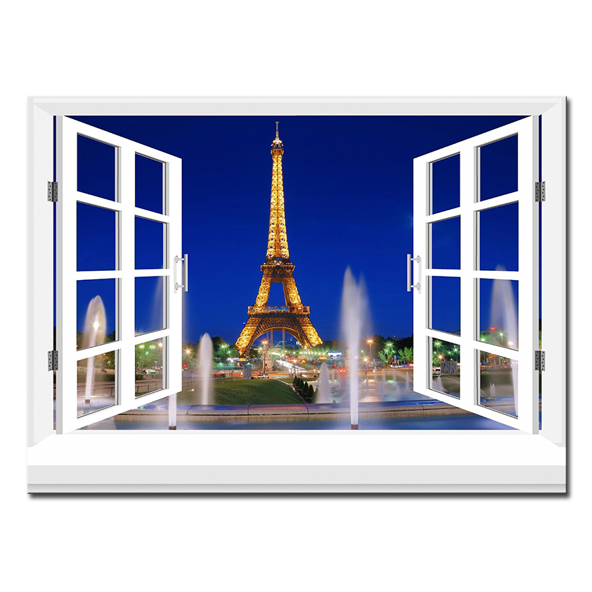 3d effective windows building Wall Painting pictures Home ...