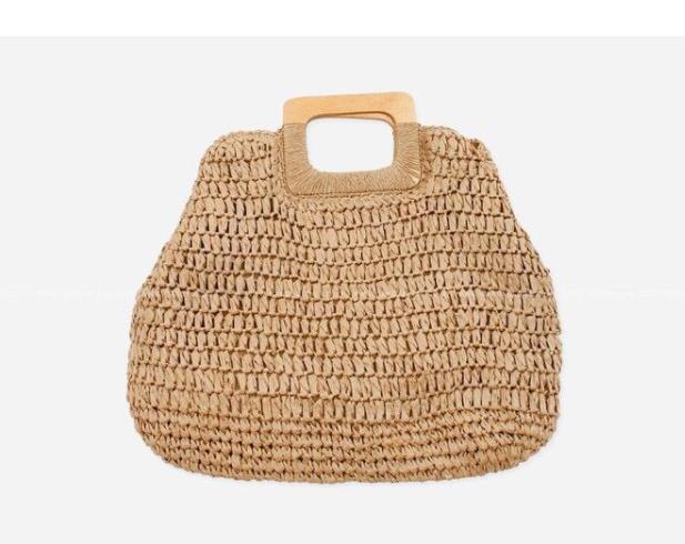 Casual Big Straw Beach Bag...