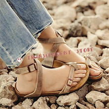 New Arrival Retro Design Genuine Leather Sandals Handmade Buckle Strap Summer Flip Flops Brown Black Simple Style Women Shoes