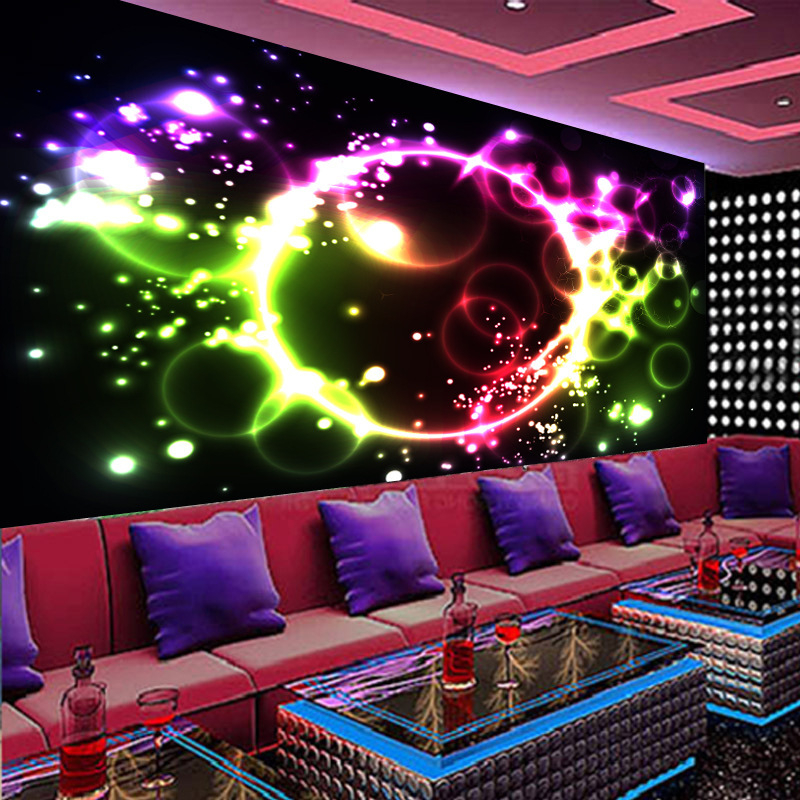 beibehang papel de parede KTV bar wallpaper stunning beauty theme reflective perspective 3d purple background wallpaper TV box