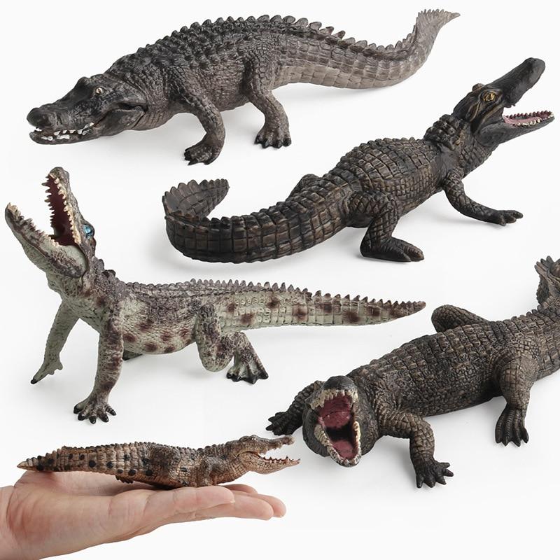 Animals Kingdom Crocodile Toy Set Plastic Play Toys World Park Model Action Figures Kids Gift Home Decor Children