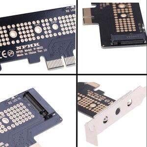 Image 2 - NVMe PCIe M.2 NGFF SSD vers PCIe x1 carte adaptateur PCIe x1 vers M.2 carte avec support