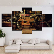 5 Panels Wall Art Canvas Prints Movie character Predator Vs Aliens Painting Picture for living room Home decor art poster