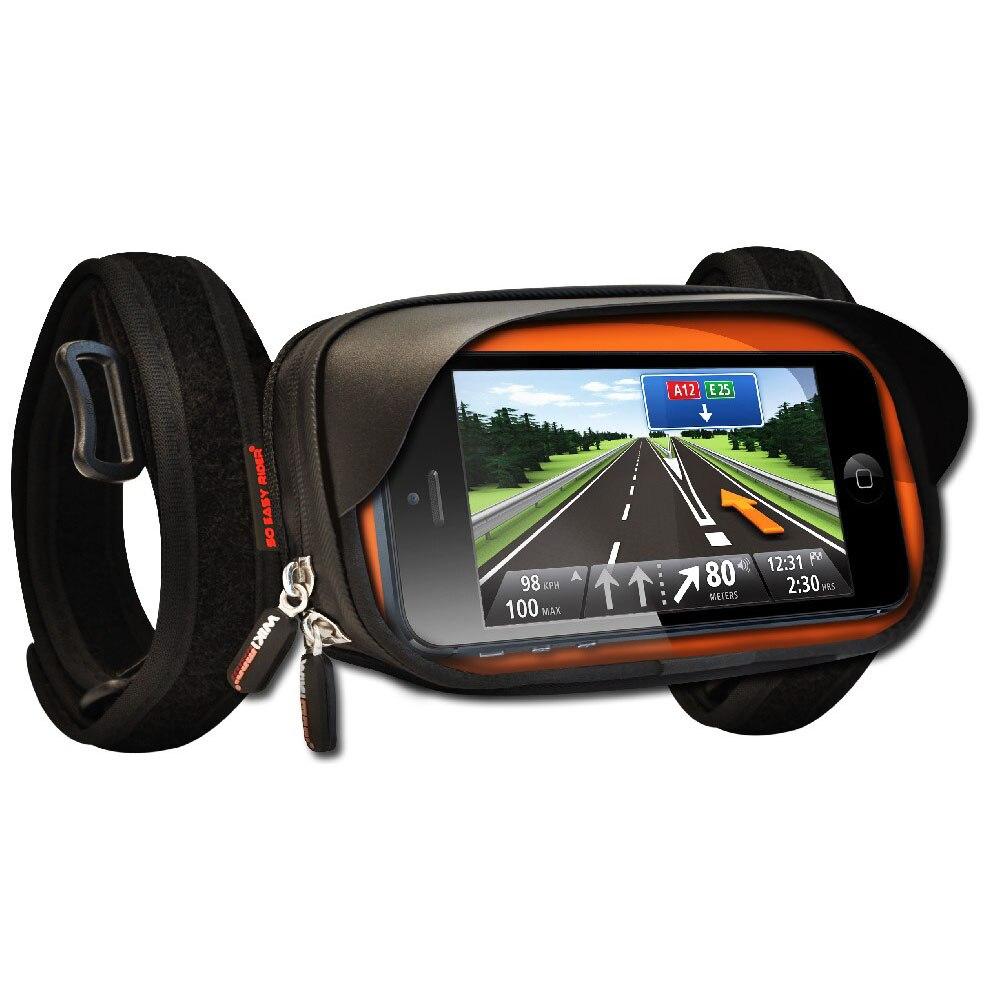 imágenes para Smartphone Sostenedor Del Montaje con cubierta impermeable para el iphone Samsung smartphone de 4 pulgadas de pantalla para atar en La Motocicleta manillar