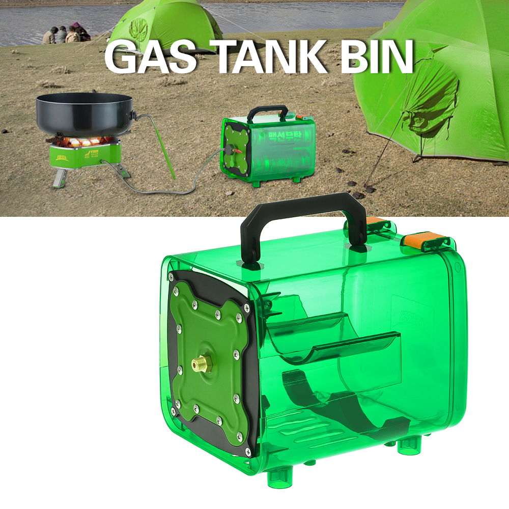 BRS Portable Picnic Travel Camping Stove Power Gas Bottle Case Outdoor Energy Warehouse Unit Bin Stove Cylinder Gas Bin BBQ Tool