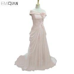 Real photos oscar red carpet classical off shoulder front slit pink chiffon evening dresses celebrity dresses.jpg 250x250
