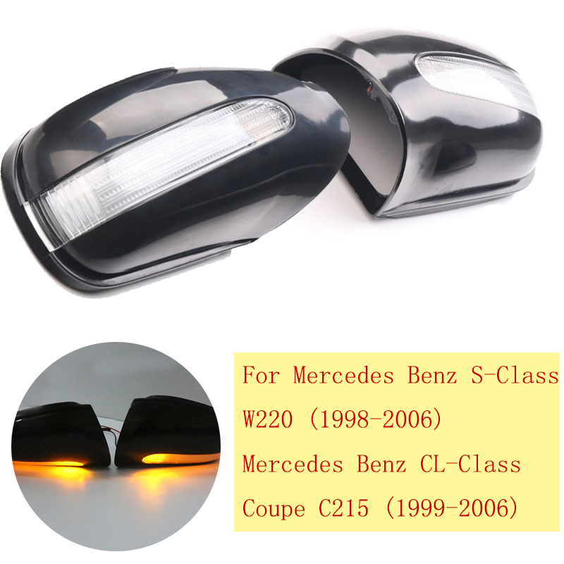 For Mercedes Benz Rear View Door Mirror Covers Cap S Class W220 Coupe C215 AMG OEM 2208100164 2208100264 Car Styling new alternator for mercedes benz cl63 65 amg oem al0864x 0121813002 0131549902