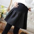 Осень и зима беременных женщин Помпоном юбка беременных женщин юбка в складку большие юбки мода для беременных