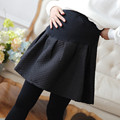 Autumn and winter pregnant women Pompon skirt pregnant women pleated skirt large skirts fashion maternity
