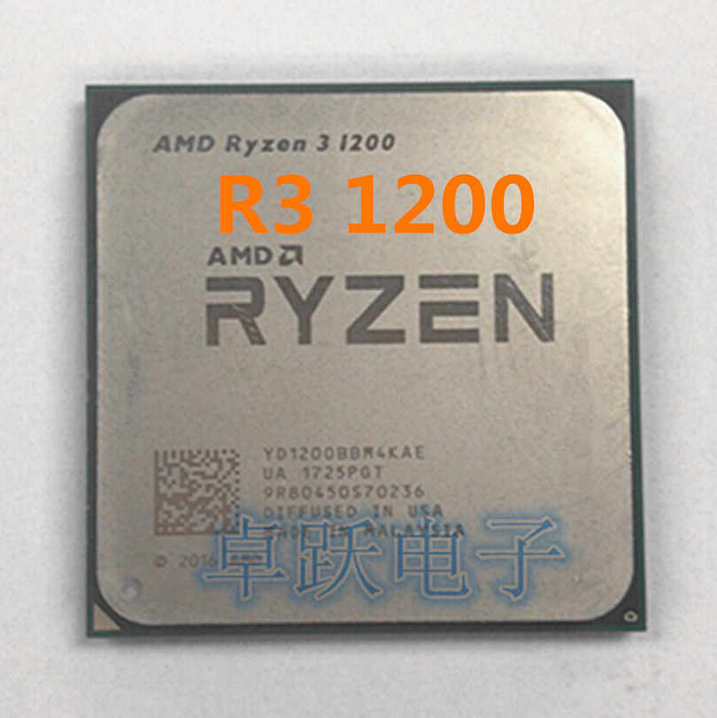AMD Ryzen R3 1200 CPU Processor Quad-Core Socket AM4 3.1GHz 10MB TDP 65W