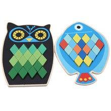 Мультфильм образовательных рыбы/сова деревянные игрушки для детей многофункциональные раннего обучения деревянные пазлы