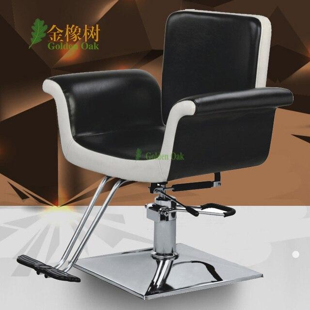 Hairdressing chair barber chair. Put down hair salons haircut chair. Hydraulic lifting chair