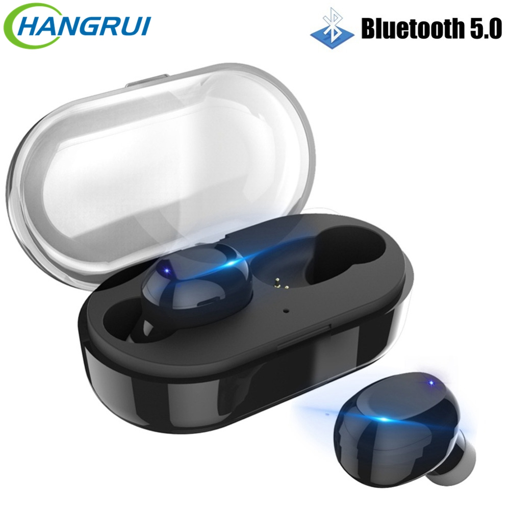 Hangrui TWS 5.0 Bluetooth Wireless Headphones Fever Stereo Earplug Earphones With Mic IPX6 Waterproof Earphone For Phones