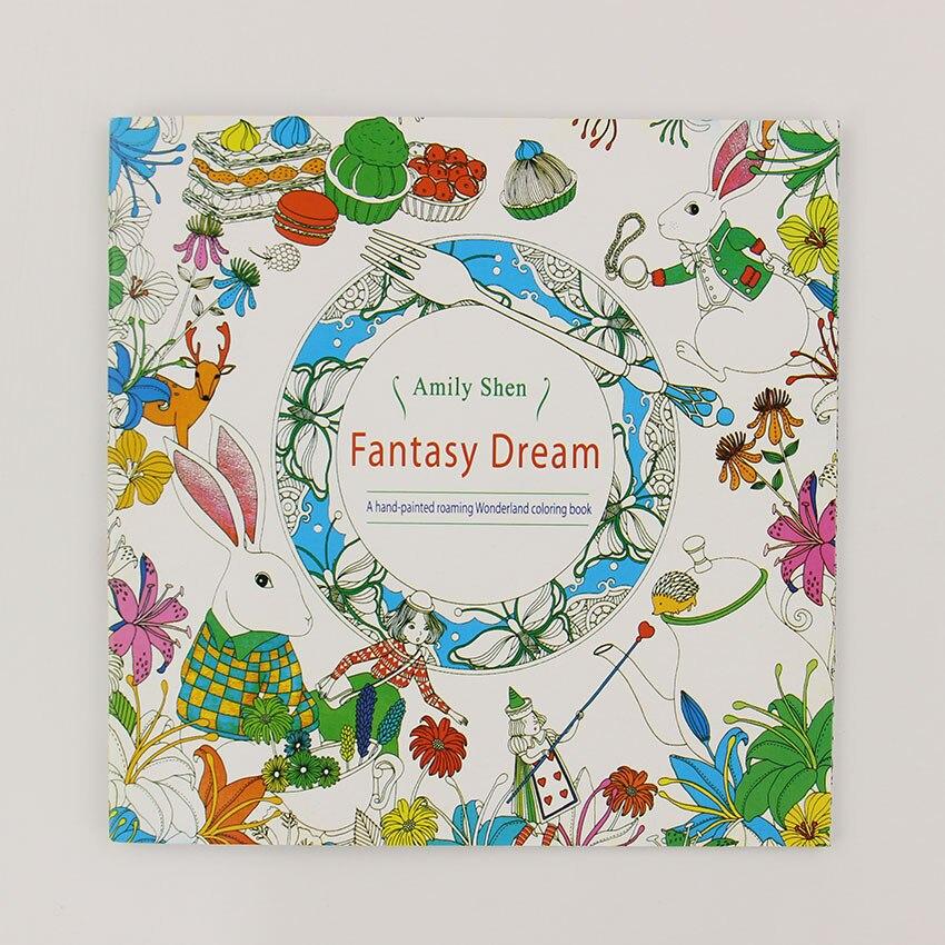 24 страниц фэнтезийная мечта английское издание раскраска для детей и взрослых снять стресс убить время живопись книга для рисования