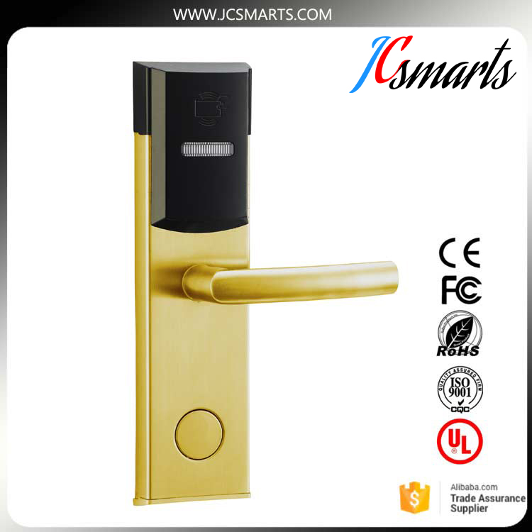 Digital Electric Hotel Lock Best RFID hotel Electronic Door Lock For Flat Apartment with management software hasan hussain hotel room division management