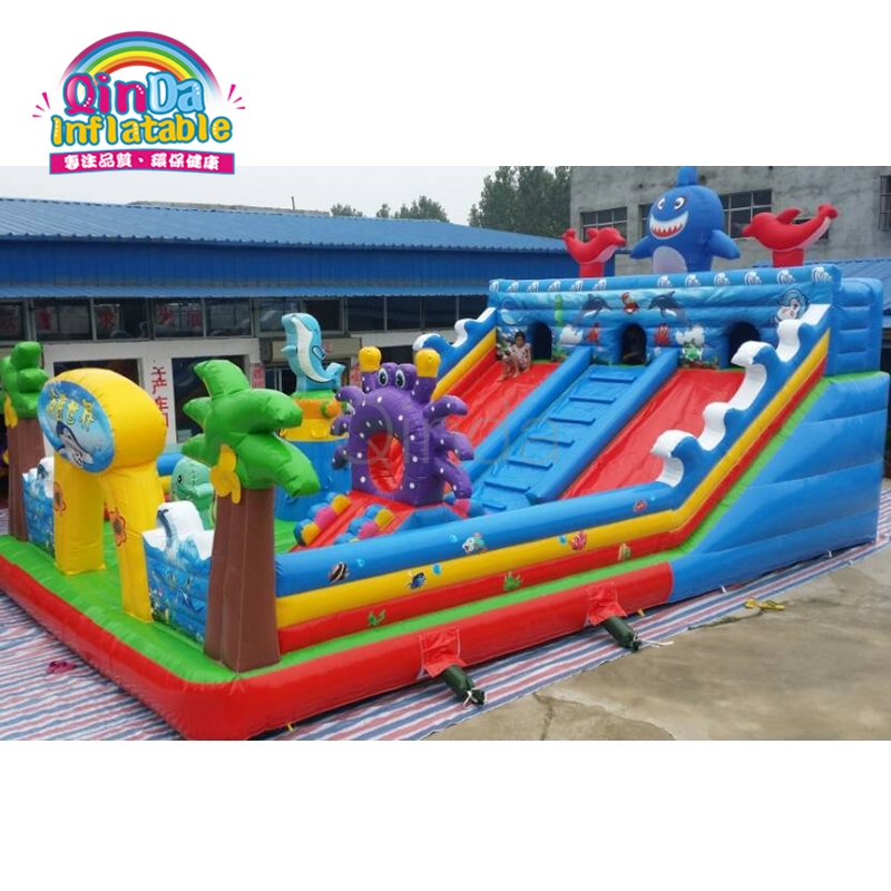 Promotional Custom Kids Garden Bouncy Castle With Slide Hire For Party пижама castle garden