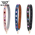 W.D.POLO Strapper you rivet handbags belts women bags strap women bag accessory bags parts split leather spike belts M2648