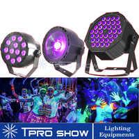 Lumière UV Disco lumière ultraviolette LED stroboscope gradation Mini scène lumières violet lampe projecteur DMX Blacklight pour petite fête Pub DJ Club