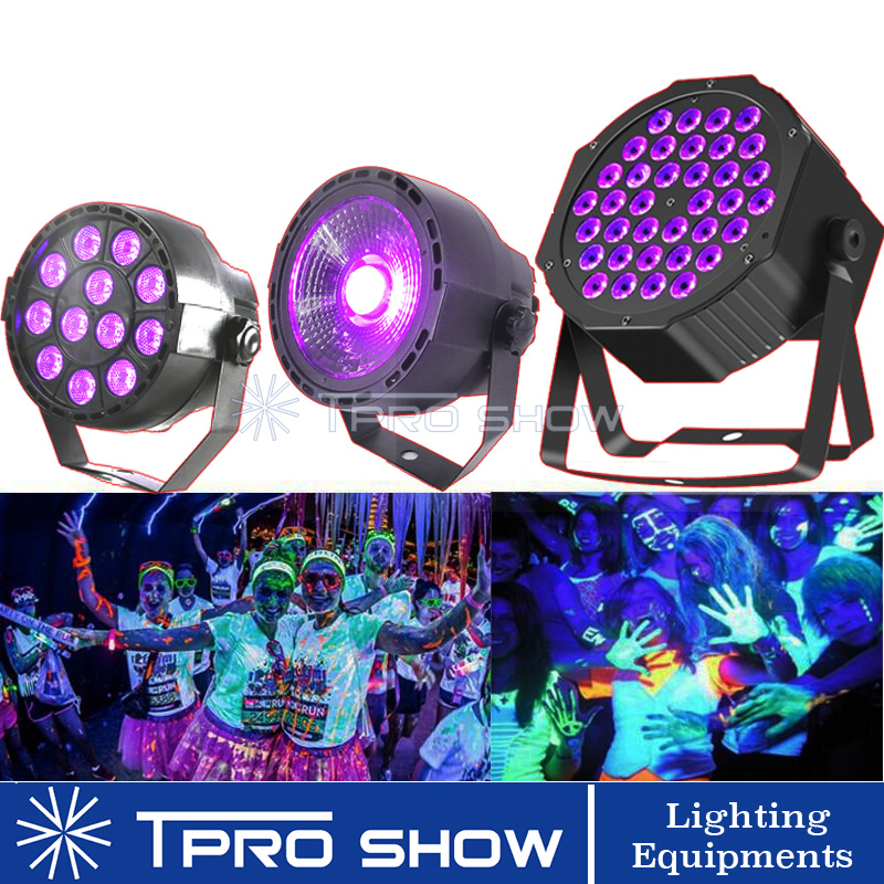 UV Disco Light Ultraviolet LED Strobe Dimming Mini Stage Lights Purple Lamp Projector DMX Blacklight For Small Party Pub DJ Club