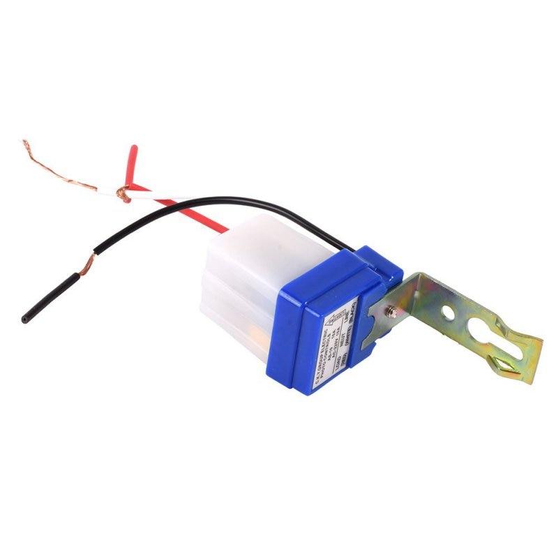 12V Luz de Calle Ajustable Fotoc/élula Photoswitch Sensor Inteligente Interruptor de Control de Luz Autom/ático Autom/ático Encendido Apagado Fotoc/élula Dc Ac 10a Sensor Interruptor