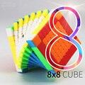 Moyu MF8 8x8x8 cubo 8 capas Cubo de velocidad mágica rompecabezas 8x8 negro sin adhesivo Neo cubo Magico 8*8*8 juguetes educativos para niños