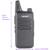 2 Unids AP-100 Delgado tamaño de Dos Vías de Radio de largo alcance UHF 400-470 MHz FM transmisor-receptor handheld profesional WLN KD-C1 Walkie Talkie de Radio