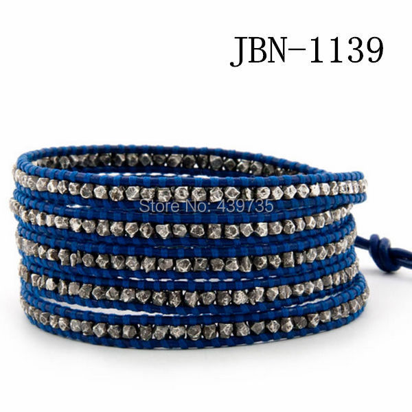 new arrival  fashion  leather bracelet  copper  weaving charm bracelets handmade bangles for women jewelry JBN-1139