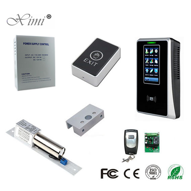 3000 Users TCP/IP USB Touch Screen 125KHZ RFID Card Time Attendance Time Recorder DIY ZK SC700 ID Card Access Control System
