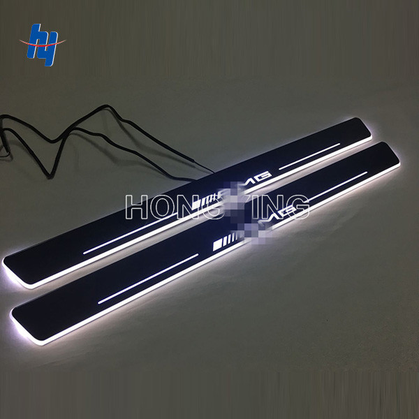 2pcs  LED scuff plate door sill covers for M ercedes AMG door sill light welcome lamp for M ercedes B enz E class W211 2005-2008 free ship rear door of high quality acrylic moving led welcome scuff plate pedal door sill for 2013 2014 2015 audi a4 b9 s4 rs4